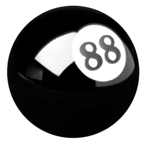 Lucky 8-ball logo